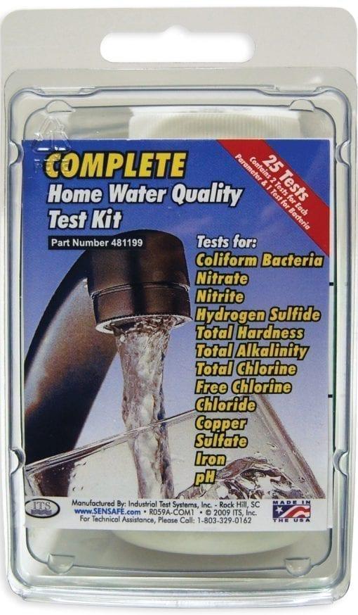 hushållsvatten test